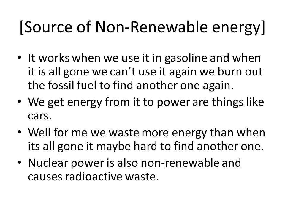 [Source of Non-Renewable energy]